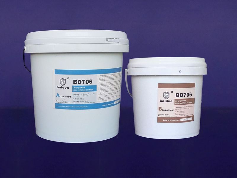 Large particle coating